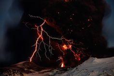 volcanic lightening