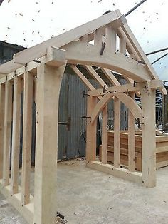 Oak Porch Doorway Wooden porch CANOPY Entrance Self build kit porch : wood canopies - memphite.com