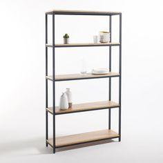 "Bild Grosses Regal, 5 Einlegeböden, Metall und Holz ""Talist"" La Redoute Interieurs"