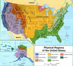 The three major mountain ranges of the continental US are the
