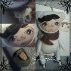 Felting wool- hand painted dolls by L' Andrea