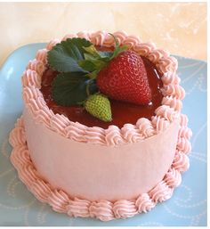 Strawberry+Mini+Cake+with+fresh+strawberry+cake+topper.PNG 466×509 pixels