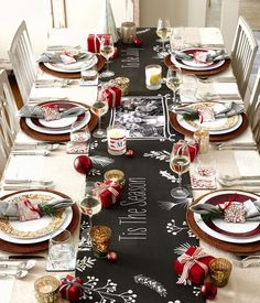 Get ready for Christmas with tabletop accents that bring cheer and joy. From plates, table runners to candles and coasters, find what fits your holiday style.
