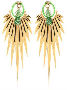 MANISH ARORA ELMA METAL GOLD PLATED EARRINGS