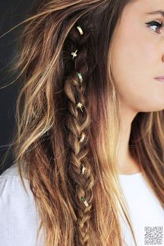 13. #Braided with Baubles - 29 Chic Boho Hair #Styles Your Hair Wants Now ... → Hair #Messy