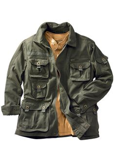 Big and Tall Cargo Pocket Twill Jacket by Boulder Creek   Big and Tall Top Sellers   King Size