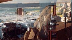 ArcDog Film: Casa de Chá da Boa Nova   Álvaro Siza Vieira. Image ArcDog. @casachaboanova. #CasadeChadaBoaNova #BoaNova #AlvaroSiza #AlvaroSizaVieira #Siza #LecadaPalmeira #Porto #Portugal #TeaHouse #Michelin #Restaurant #RuiPaula #Table #Chair #Interior #ArcDogFilm #Architecture #Architect #Film #ArcDog #Filmmaking Porto Portugal, Mount Rushmore, Mountains, Nature, Table, Instagram, Interiors, Houses, Naturaleza