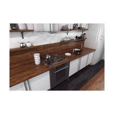 Blat kuchenny LAMINOWANY DĄB WERSAL D4865SM SWISS KRONO GROUP Leroy Merlin, Double Vanity, Bathroom, House, Ideas, Washroom, Home, Full Bath, Bath