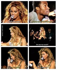 Funny fan and Beyonce conversation