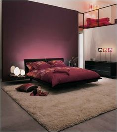 Bedroom Coloroods Walls Room Vicki Fawns Purple And Red
