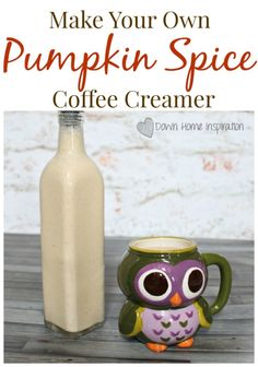 Make Your Own Pumpkin Spice Coffee Creamer - Down Home Inspiration