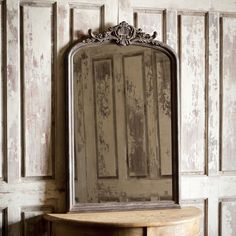 Our Large Antique Style Wood Framed Mirror is just like one your grandmother may have had! For more large framed mirrors visit Antique Farmhouse. Decor, Park Hill Collection, Farmhouse Decor, Large Framed Mirrors, Wood Framed Mirror, Mirror Shades, Vintage Mirrors, London Wall Decor, Mirror