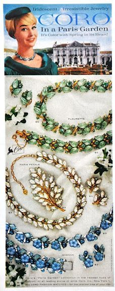 A Coro jewelry advert from the 1950s.