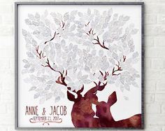 "Lovalù® Design: wedding guestbook trees, custom nursery art prints, stars under the moon, unique deer guest book, travel maps, skyline & more... ❤This ""Guest Book Canvas Art"" is an alternative to the traditional guest book. The guest book signed by guests with an acronym or a loving thought,will be a framework that will forever remember your special day.❤  Lovalù goes into our homes to bring color, love and sweet memories. Our guest book alternative printed on canvas, with their innate…"