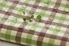 #Laminated #Cotton #Fabric Made in #Korea priced By the by #FabricKorea, $23.00 #check #shower #curtain #camping table fabric #rain coat #waterproof #water resiste