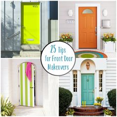 25 Tips for Front Door Makeovers like the idea of same color on door and used in rug