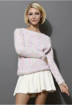 Candy Color Chunky Knit Sweater - New Arrivals - Retro, Indie and Unique Fashion New Look Fashion, Fast Fashion, Latest Fashion For Women, Unique Fashion, Fashion Outfits, Women's Fashion, Fasion, Winter Fashion, Angora Sweater