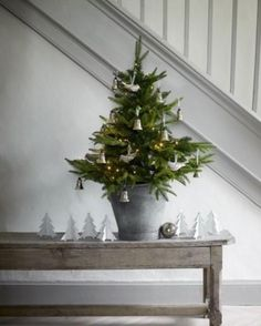 Pequeños árboles de navidad con mucho encanto...