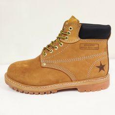 "Men/'s Steel Toe Work Boots 6/"" Tan Nubuck Leather Ankle Slip //Oil Resistant Sizes"