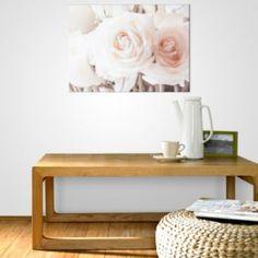 Cream Roses Cream Wall Art (W)70cm x (H)50cm: Image 2
