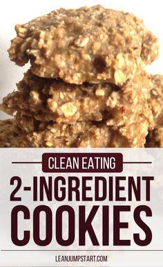 Clean Eating Cookies with Just 2 Ingredients