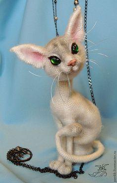 Игрушки животные, ручной работы. Ярмарка Мастеров - ручная работа. Купить Кошачья тайна.... Handmade. Кот, коты и кошки, кошечка