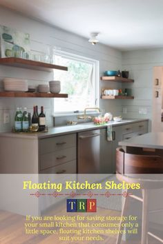 If you are looking for saving storage for your small kitchen that consumes only a little space, floating kitchen shelves will suit your needs. kitchen floating shelves | kitchen floating shelves decor | kitchen floating shelves wood | kitchen floating shelves diy | kitchen floating shelves and cabinets | kitchen floating shelves decor ideas | kitchen floating shelves modern | kitchen floating shelves white | #decor #wood #farmhouse #white #small
