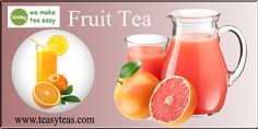 Fruit teas are available in a variety of enchanting flavors and aromas. Fruit Tea, Teas, Bottle, Drinks, How To Make, Food, Drinking, Beverages, Tees