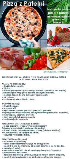 2 w 1 smaczna pizza z patelni na cienkim cieście, gotowa w chwilę a do tego NISKOKALORYCZNA!!!