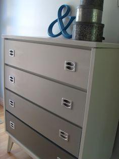 Gray Ombre Dresser - Valspar Paint -     Bay Waves, Polished Silver, Stone Mason Gray,  Charcoal Gray.