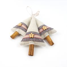 Primitive Christmas Decorations Set of Three £15.00