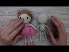 A master class, how to knit a crochet doll for beginners, contains a pattern with a description of Rosie, 18 cm tall, knit from acryl and cotton yarn. Author Katkarmela.