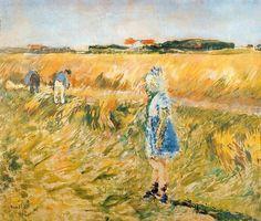 Girl In The Cornfields by Ludvig Karsten