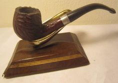 Vintage Trapwell Ajustomatic Rusticated Full Bent Briar Tobacco Smoking Pipe