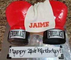 Boxing gloves cake  Http://customkidcakes.com