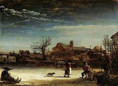 Paesaggio invernale. 1646. Olio su tela di quercia. 17x23. Kassel. Gemäldegalerie