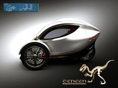 Three-Wheeled Electric Vehicle - looks like a little pod! Electric Cars, Electric Vehicle, Electric Scooter, Strange Cars, E Mobility, Microcar, Reverse Trike, Third Wheel, Cool Bicycles
