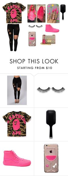 """""""blah"""" by arrogantprincess ❤ liked on Polyvore featuring Sephora Collection, GHD, Vans and Gucci"""