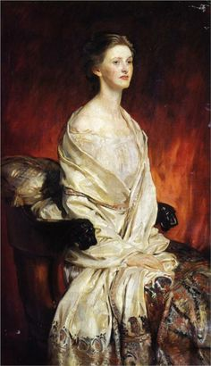 Sylvia Harrison Artist: John Singer Sargent Completion Date: 1913 Style: Realism Genre: portrait Technique: oil Material: canvas Dimensions: 152.4 x 88.9 cm Gallery: Private Collection