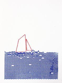 La mer vue par Sandra Dufour - L'Illustre Boutique