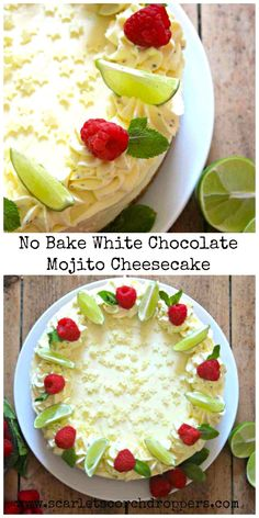 No Bake White Chocolate Mojito Cheesecake