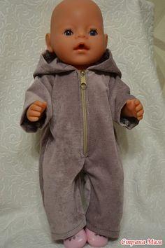 Шьем зимний комбинезон для куклы ростом 32-34 см Ярмарка