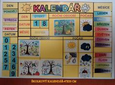 Kalendar,super! Weather For Kids, Seasons Of The Year, Montessori, Classroom, Calendar, Education, School, Ms, Type 1