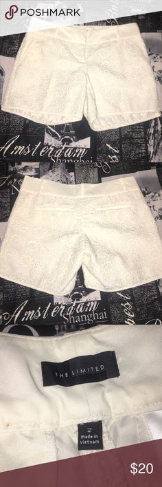 BNWOT The Limited lace shorts Absolutely love these shorts, but just don't ever wear them. Hoping someone will give them the love they deserve! The Limited Shorts Bermudas