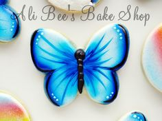 Ali Bee's Bake Shop: Tutorial: Blue Butterflies