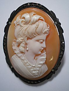 Hand Carved Shell Cameo set in Sterling. Click on the image for more…
