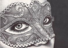 masquerade - ballpoint pen drawing by ~angelfaces1986 on deviantART