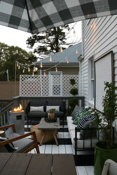 small deck decorating ideas Friday Favorites starts with Deck String Lights and Summer Essentials - Nesting With Grace Budget Patio, Small Patio Ideas On A Budget, Small Deck Decorating Ideas, Outdoor Deck Decorating, Outdoor Decor, Outdoor Living, Decor Ideas, Budget Decorating, Outdoor Ideas