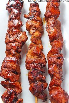 Bacon, Butter, Cheese & Garlic: Korean inspired Chicken on a Stick...easy and yummy! | BaconButterCheeseGarlic.com