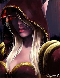 sylvanas by Innovar on DeviantArt - World Of Warcraft 3, World Of Warcraft Characters, Fantasy Characters, Female Characters, Dark Fantasy Art, Fantasy Rpg, Fantasy Girl, Fantasy Artwork, Lady Sylvanas